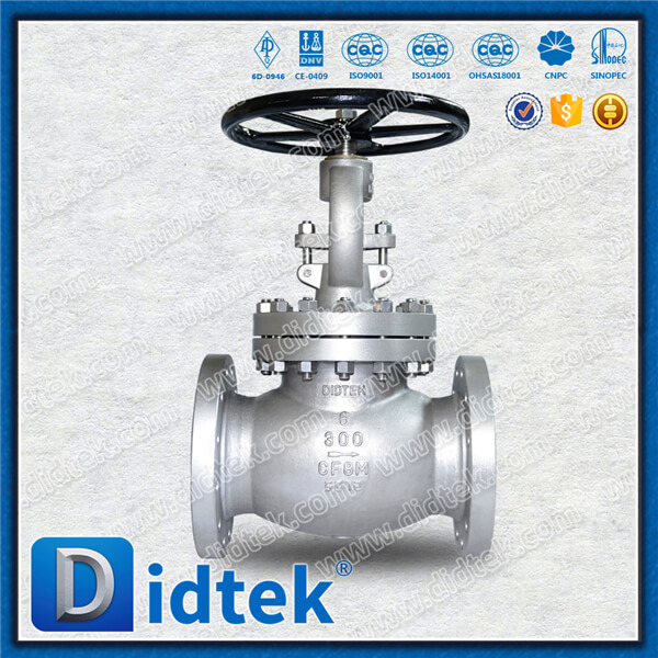Didtek 100% Test CE API6D Stainless Steel CF8M flange Globe Valve for Chemical Industry Marketing