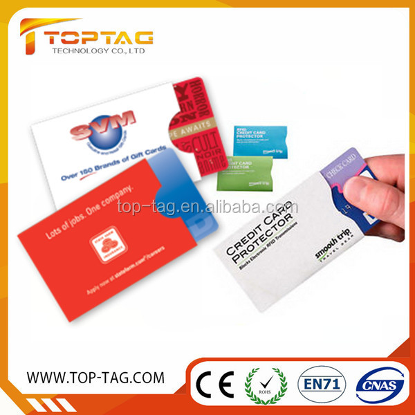 Aluminum Foil Paper Safety Sleeves / RFID Identity Theft Blocking Card Protection