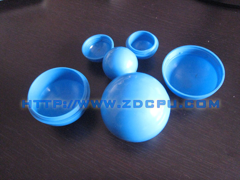 40mm two-half openable plastic ball hollow ball