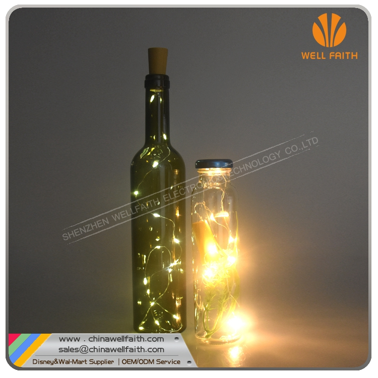 Bar LED bottle stopper cork plug string lights for home decoration Battery operated led bottle stopper
