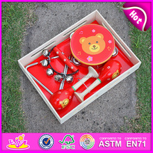 2016 hot sale kid wooden hang drum,wholesale wooden toy drum,most popular wooden drum W07A033
