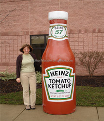 2015 Hot sale inflatable ketchup bottle for advertising