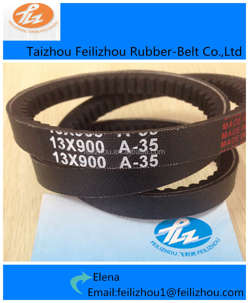 2016 manufacoty high quality raw edge cogged v belt,fan belt,rubber belt