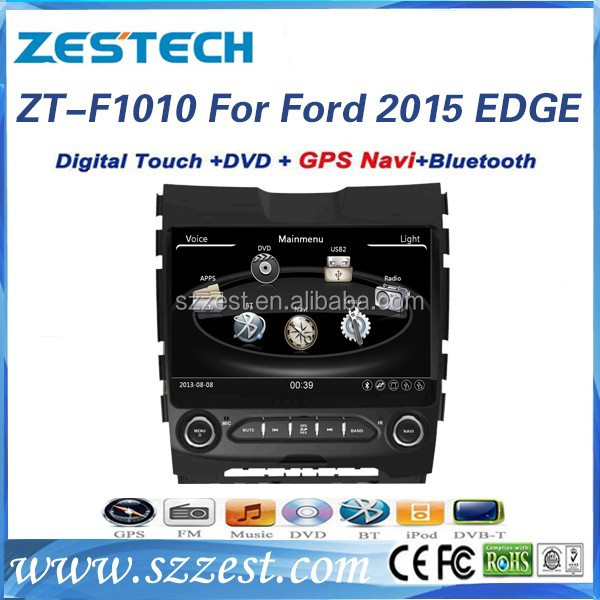ZESTECH double din In-dash Car dvd headunit for Ford EDGE 2015 car radio with Car Audio Navigation system