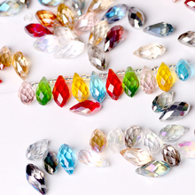 PUJIANG Factory Selling 12x25mm Crystal Glass Teardrop Beads For Earrings