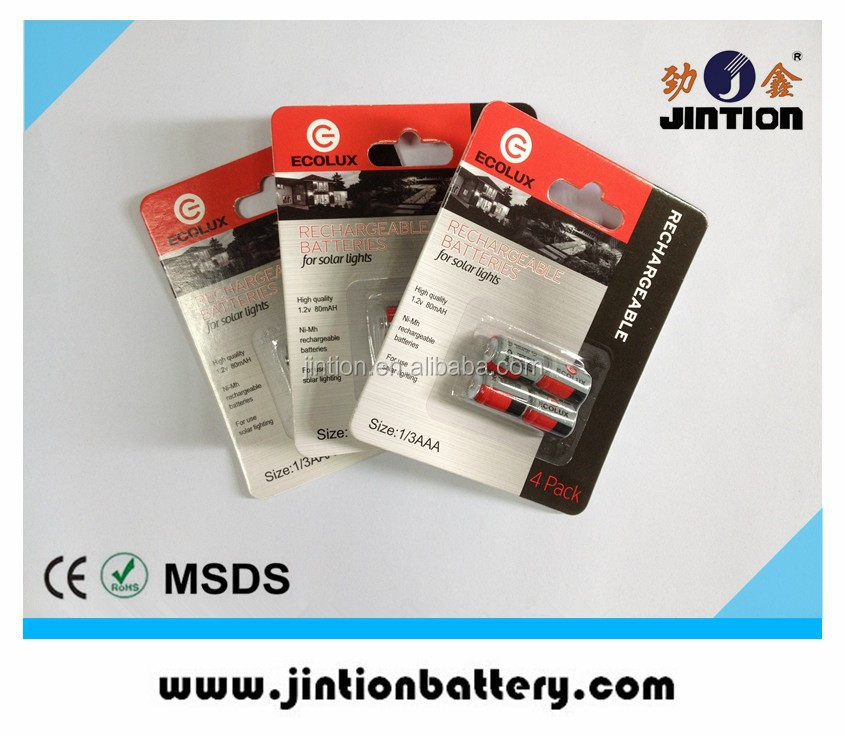 Blister Card Pack for 1/3AAA battery