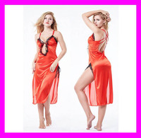 Newest hot selling high quality fancy ladies sexy satin silk lingerie HD7167