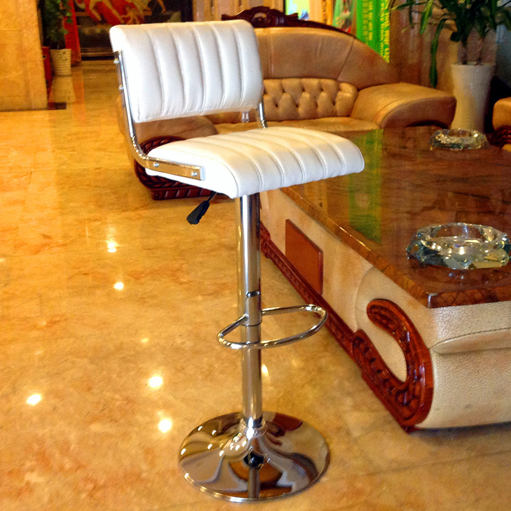 Swivel Antique Pu White Barstool Chair Vintage Industrial Leather Bar Stool