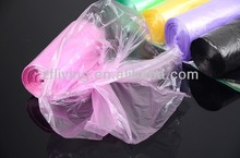 PE colorful plastic trash bag on roll for kitchen / colorful can liner