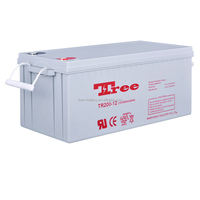 Reliable Quality Battery Manufacturer AGM battery 12v 200ah gel deep cycle batery