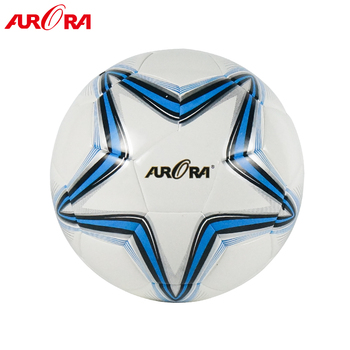 Top quality  white pu laminated soccer ball  match size 5  football