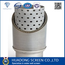 Stianless steel perforated pipe with screen jacket , pipe based screen using in water welll project