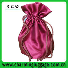 elegant satin drawstring pouch / satin drawstring bag