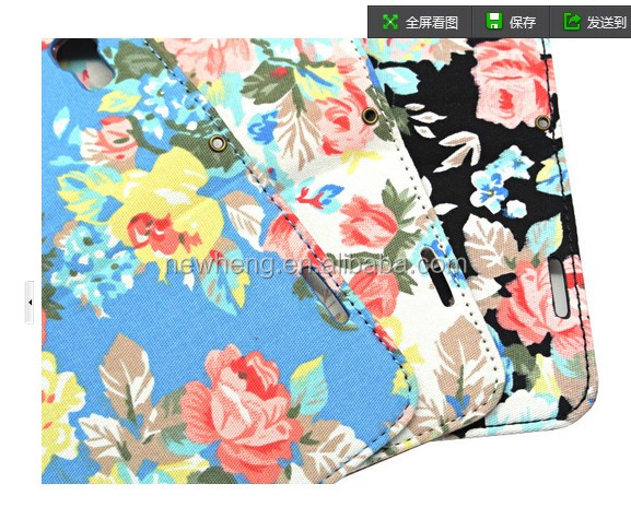 Stylish Flower Flower holster case for iphone5s