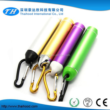 power bank 2600mAh smart power bank usb travel charger aluminum alloy climbing hook carabiner power bank
