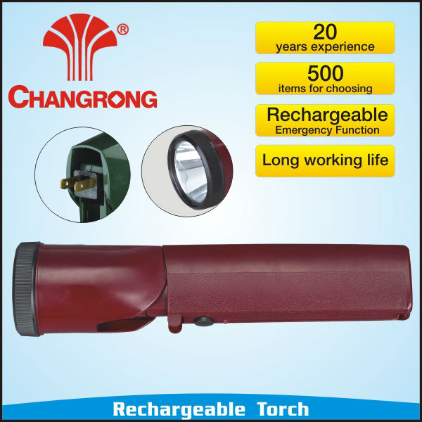 branded rechargeable plastic led torch