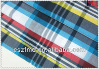 Quality cotton yarn dyed check fabric for school uniform