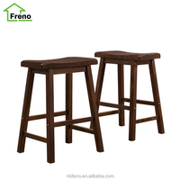 High Guality Saddle Back Bar Stool Antique Wooden Bar Stool