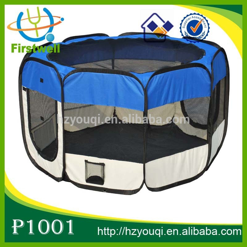 Indoor Folding Fabric Playpen Pet Dog Play Exercise Pen