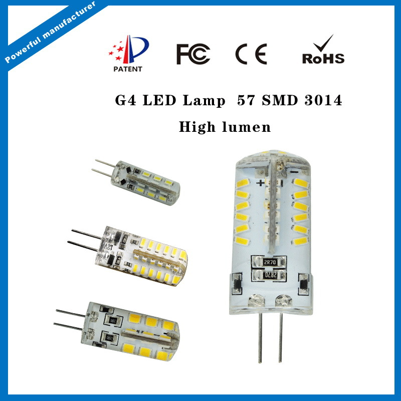 LED silicon G4 1.5W 2W 3W with CE Rohs certificate DC/AC 12V/ AC220V