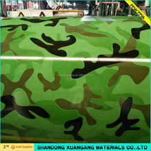 camouflage shape prepainted galvanized steel designed painting steel coil