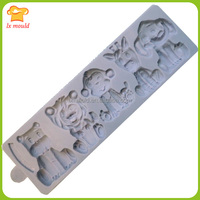 New 5 farm animal shape ice sweet chocolate silicone molds for baking