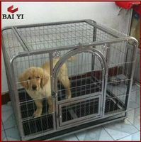 Hot Sale Double Metal Folding Dog Cage,dog running