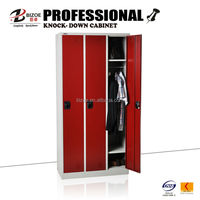 Hot sell 3 banks steel clothes changing room locker metal extra wide steel locker