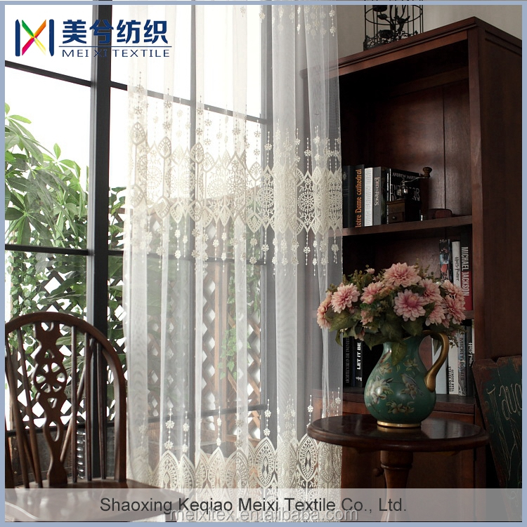 New Fancy Home Fashion milk yarn line embroidery curtains and drapes