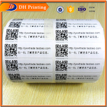 Paper sticker barcode rolls,custom eggshell sticker