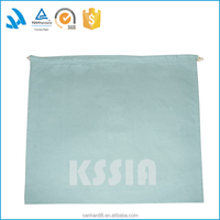 Light blue drawstring dust dress shoe bags for travel packaging