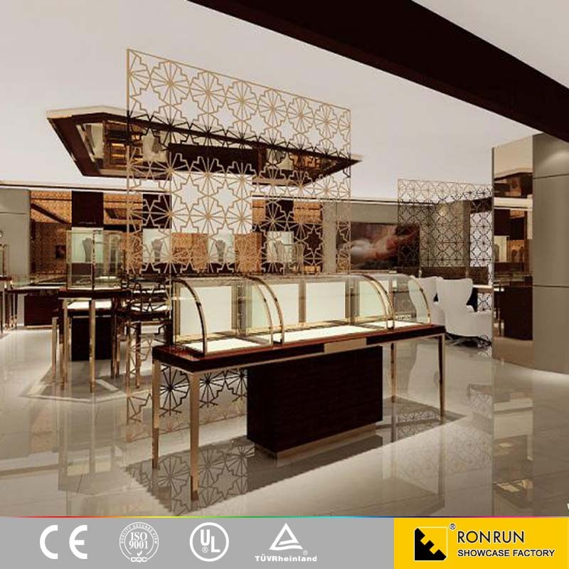 Stainless steel jewelry store cabinet display furniture and shop interior design