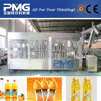 3000BPH 500ml Plastic bottle juice pulp hot bottling plant