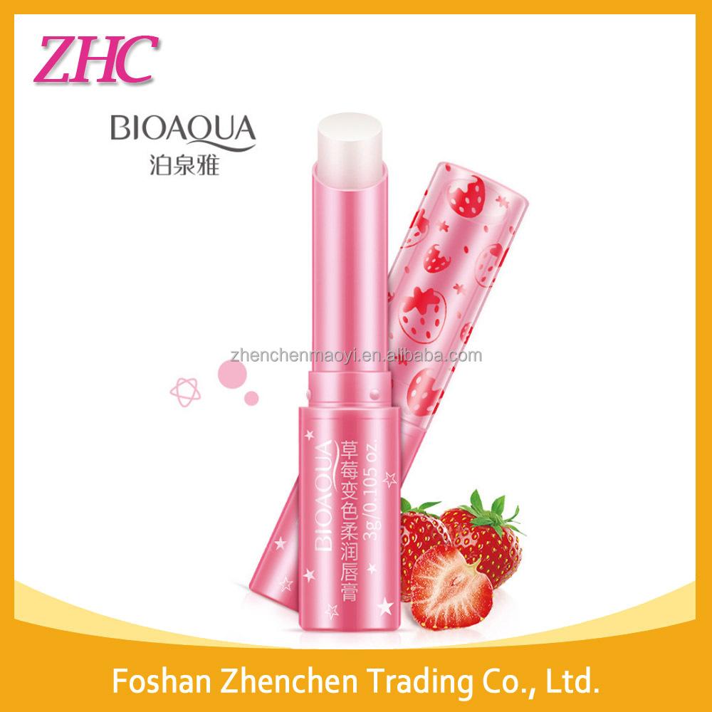 Bioaqua Strawberry Nourishing Moisturizing Lipbalm Lip Care Makeup Balm Aloe Vera Beauty View Bioauqa Product Details From Foshan Zhenchen Trading Co