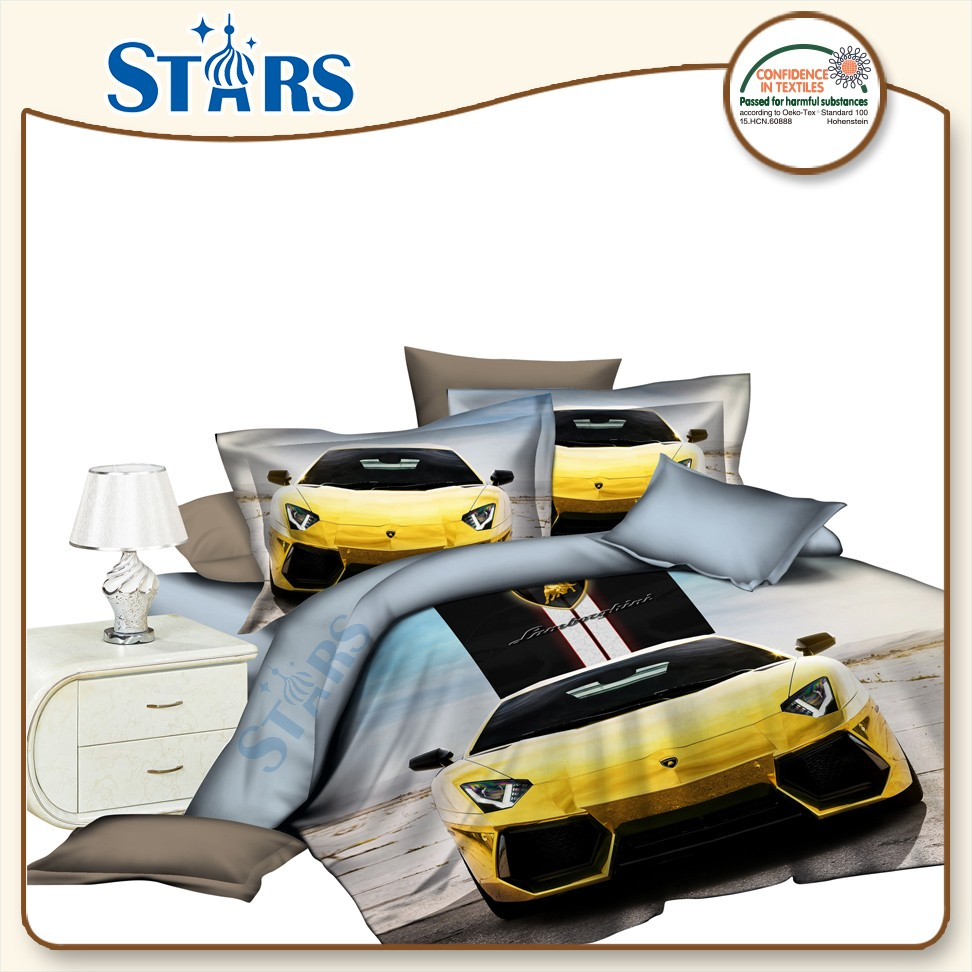 GS-FM3DO-04 Car 3D Printing Bedsheet fabric polyester microfiber