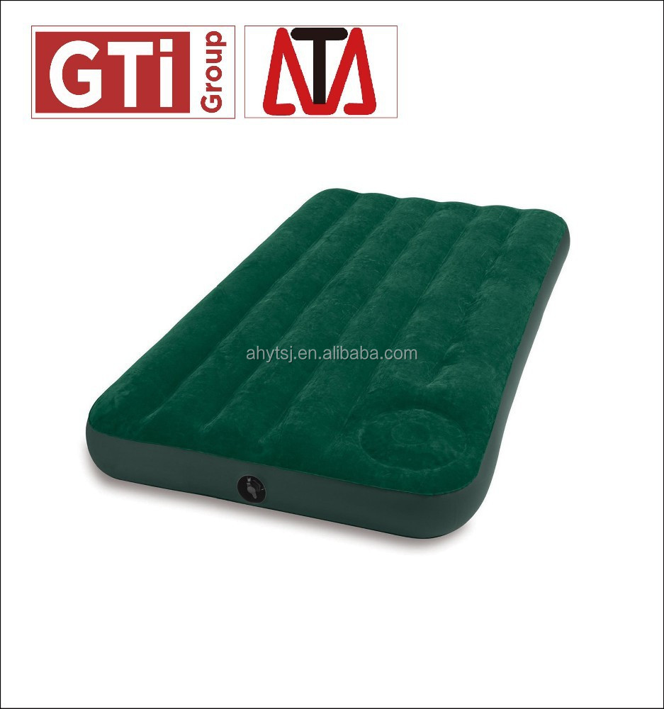 pvc outdoor inflatable air bed, inflatable sofa bed,inflatble airbed with fabric surface