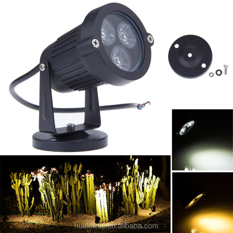Lawn Lamps 3W LED Garden Light AC110V 220V IP65 Waterproof Landscape Wall Yard Pond Flood Spot Lighting
