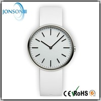 Fashion minimalist leather stainless steel japan movt fashion vogue watch uhren