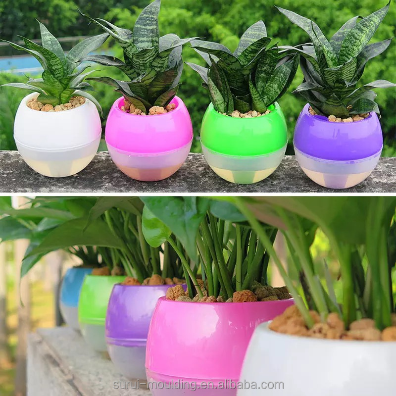 Automatic plastic self watering pots for plants