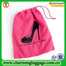 Wholesale Red Cotton Drawstring shoes bag