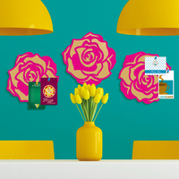 New fashion rose flower shape decorative cork pin board / eva board