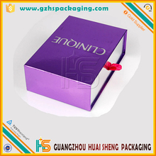 $60000 Trade Insurance Customized Paper Gift Packing Drawer Design Cardboard Box With Ribbon For Cosmetic
