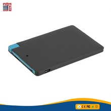 Credit Card Sized Power Bank Wallet Power Bank 5000mah <strong>Portable</strong> with cable