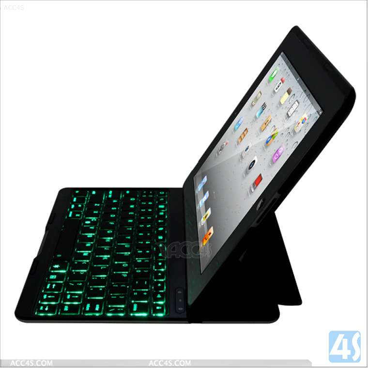 LED ligting ABS keyboard with stand case for ipad 2/3/4 P-iPAD234CASE092
