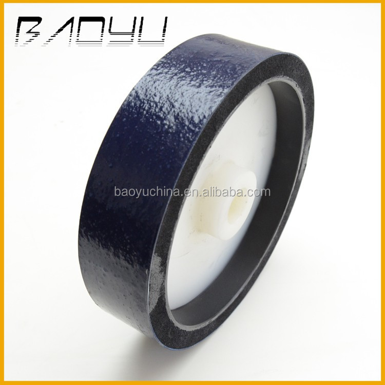 Plastic Center With Rubber Buffer Strip Elastic Lapidary Polishing Wheel