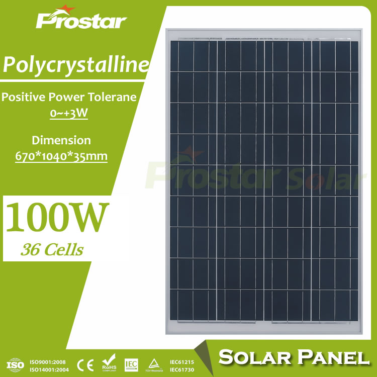 photovoltaic best price power 100w solar panel