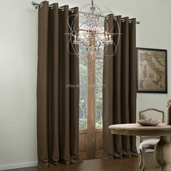 Supply Large Quantity Ready Made Window Curtain With 100%polyester Blackout