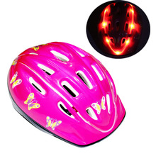 3-7 years customized toddler led light kids bike helmet