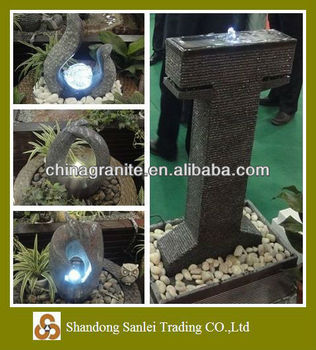LED light stone fountains