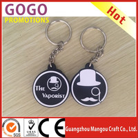 3d custom key ring rubber keychain pvc custom logo keyring, soft rubber pvc customized promotional gift key chains with keyring